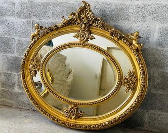 French Mirror  Baroque Mirror Rococo Mirror Antique Mirror Gold Leaf Antique Furniture Interior Design