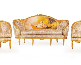 French Chair Vintage Furniture French Settee *3 Piece Available* French Vintage Chair Rococo Furniture Baroque Interior Design