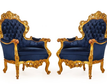 French Tufted Chair *2 Chairs Available* French Tufted Vintage Furniture Antique Baroque Furniture Rococo Interior Design Vintage Chair