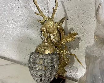 French Stag Sconce Deer Chandelier Stag *a Pair* Vintage Sconce Baroque Rococo Interior Design Stag Wall Sconce
