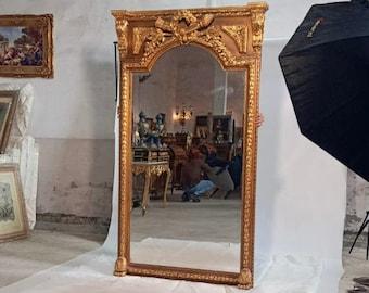 French Mirror *1 in Stock Left* French Baroque Mirror Rococo Mirror Antique Mirror 7 Feet Tall Gold Leaf Antique Furniture Interior Design