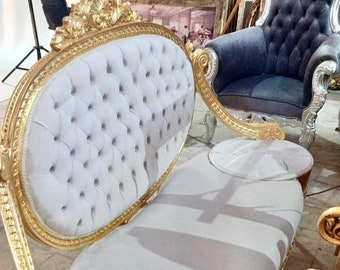 French Tufted Chair French Settee 3 Piece Set Tufted Settee Vintage Furniture Antique Baroque Furniture Rococo Interior Design Vintage Chair