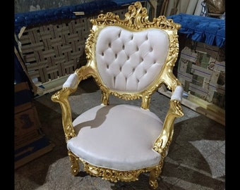 French Chair Tufted Chair *2 Chairs Available* French Chair Vintage Chair Vintage Furniture Chair Tufted Black Frame Rococo Interior Design