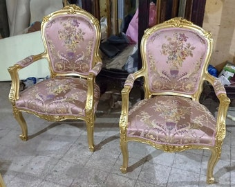 French Chair Vintage Chair *2 Available* French Pink Chair Damask Vintage Furniture Chair Pink Chair Frame Rococo Interior Design