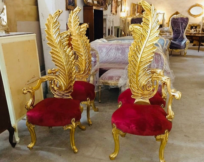 Featured listing image: Vintage Chair French Chair Vintage Furniture Interior Designer *4 Available* Baroque Furniture Rococo Vintage Chair French Chair