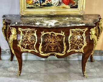 French Table French Console Table White Marble Baroque Furniture Rococo Table French Furniture Baroque Console Marble Table