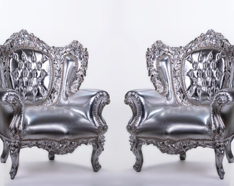 Vintage Chair French Chair Vintage Furniture Interior Designer Silver Chair *2 Available Baroque Furniture Rococo Vintage Chair French Chair