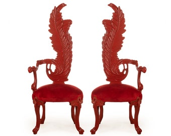 Vintage Chair French Red Chair Vintage Furniture Interior Designer *2 Available* Baroque Furniture Rococo Vintage Chair French Chair