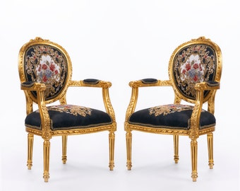 French Chair Tufted Chair Black Velvet Chair French Tufted Chair Black Velvet Chair Tufted Black Frame Rococo Interior Design