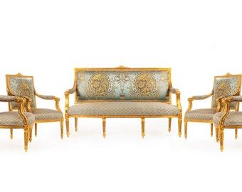 French Chair Vintage Furniture *5 Piece Set* French Vintage Chair Rococo Furniture Baroque Interior Design