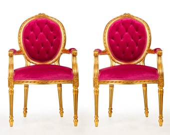 French Pink Chair Vintage Chair *2 Available* French Chair Vintage Furniture Chair Pink Chair Frame Rococo Interior Design