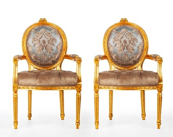 French Chair Vintage Chair *2 Available* Vintage Furniture Damask Vintage Chair Baroque Furniture Rococo Interior Design