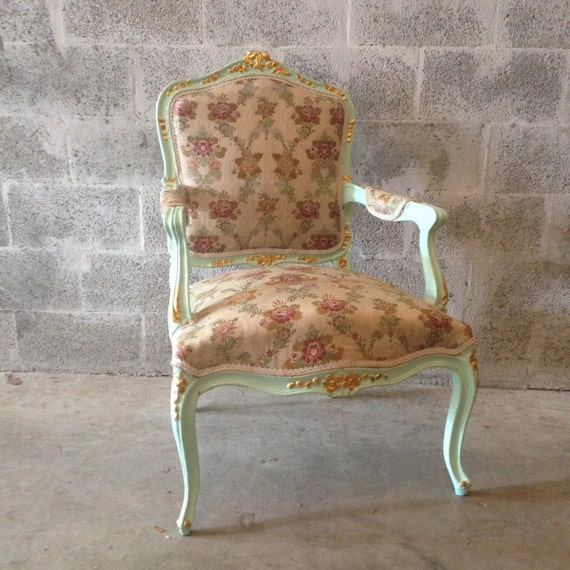 image 0 - French Green Minty Chair French Antique Furniture Louis XVI Etsy