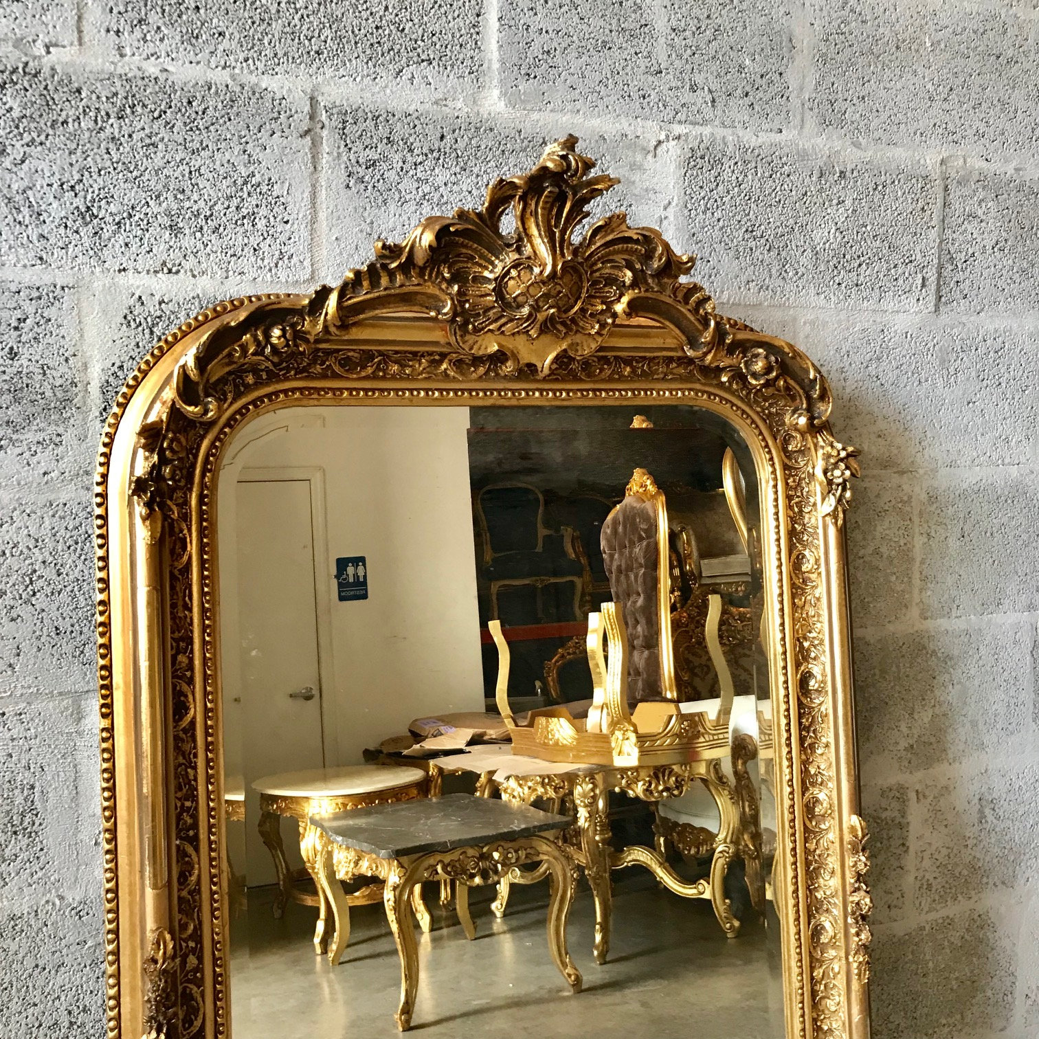 French Mirror French Baroque Mirror Rococo Mirror Antique ...
