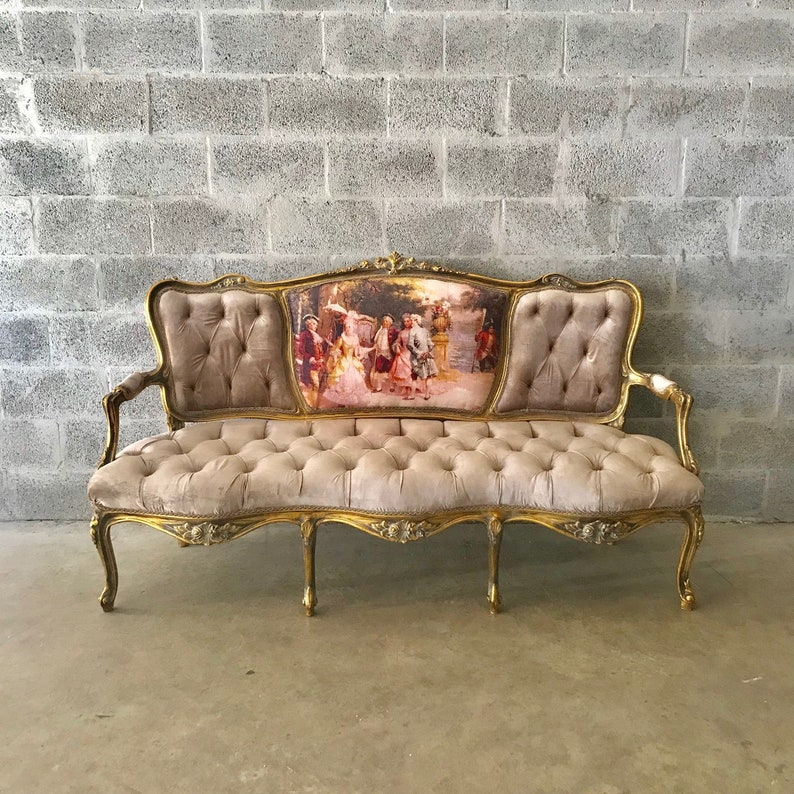 French Furniture French Settee Vintage Sofa Antique Furniture Etsy