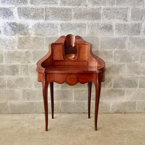 image 0 - Vintage French Secretary Desk Good Condition Heavy Wood Etsy