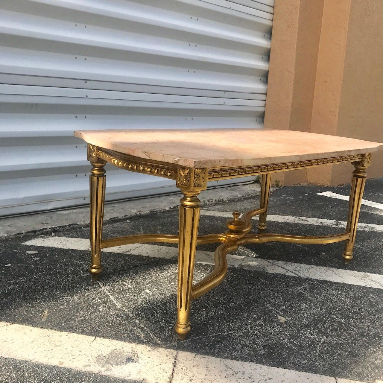 French Coffee Table Marble Top Antique Furniture French Louis Xvi