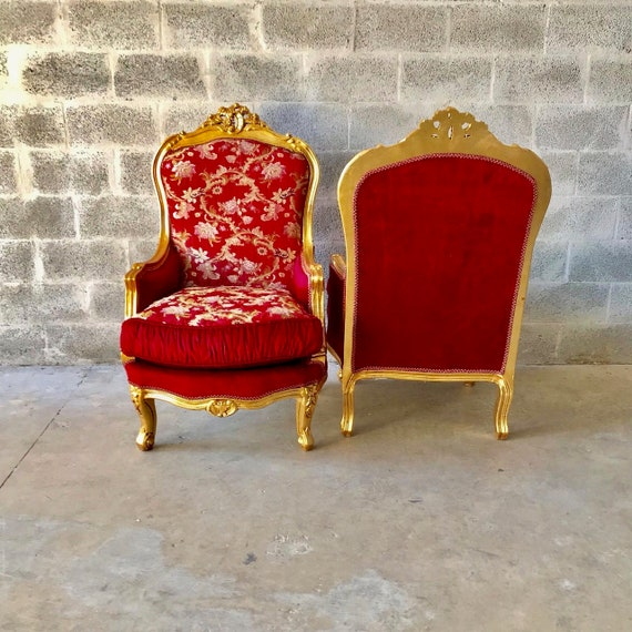 Marvelous French Chair French Settee 5 Piece Available French Sofa French Furniture Baroque Settee Tufted Chair Gold Leaf Baroque Furniture Rococo Machost Co Dining Chair Design Ideas Machostcouk