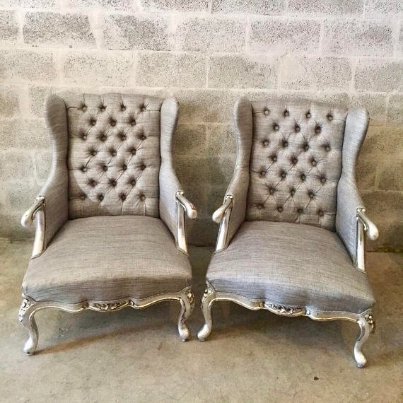 image 0 - French Silver Chair Antique Furniture French Louis XVI Etsy