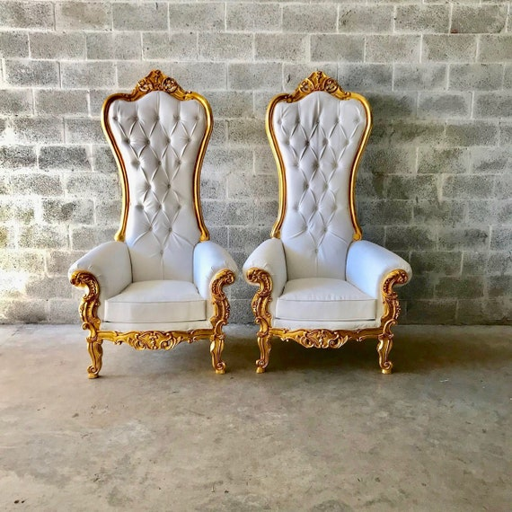Superb White Throne Chair White Leather 2 Left Chair French Chair Throne Chair Tufted Gold Throne Chair Rococo Interior Design Ibusinesslaw Wood Chair Design Ideas Ibusinesslaworg