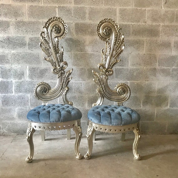 Italien Dos Baroque Chaise Reproduction 65 Trône Haute 9HDIE2