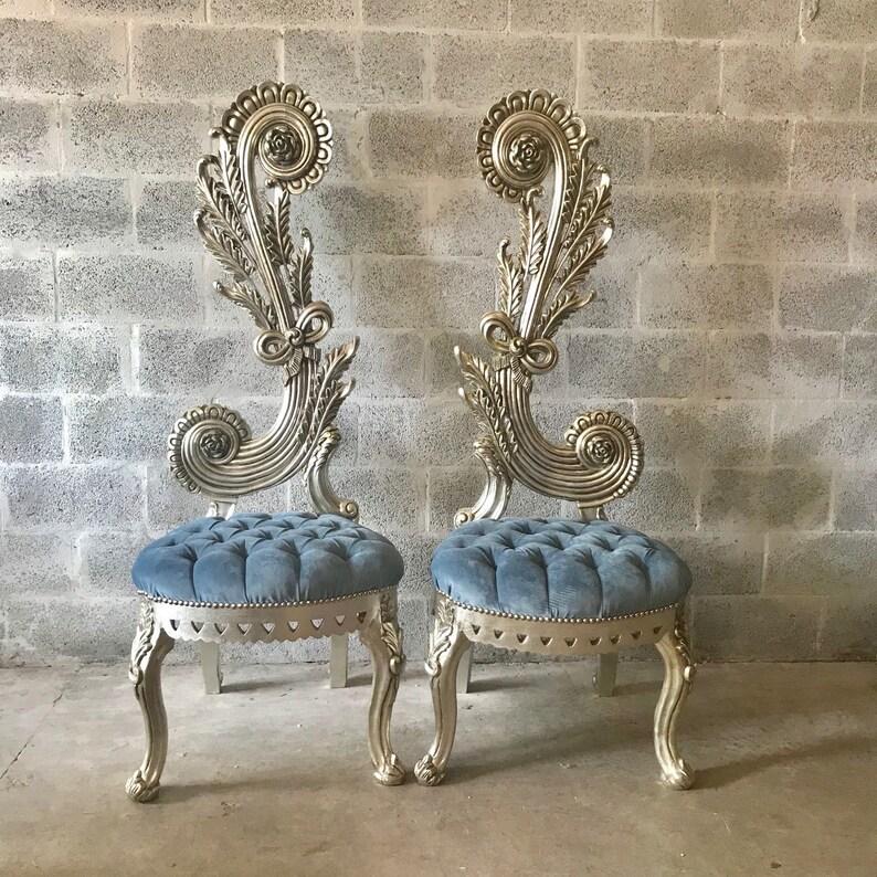 Dos Trône Baroque 65etsy B7g6fyy Reproduction Italien Chaise Haute wm8n0N
