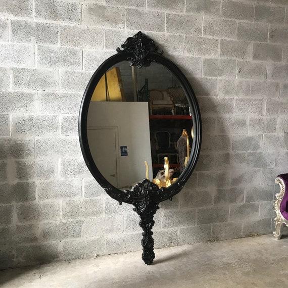 Français Miroir Noir Miroir 75 Pieds Design Dintérieur Etsy