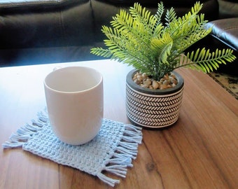 Mug Rug, Mug Rugs, Crochet Mug Rugs, Handmade Gifts, Gift Ideas, Coffee Coasters, Cute Coasters, Cozy Decor, Multiple Colors Available