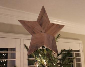 Christmas Tree Star Topper- Rustic Reclaimed Wood Star - Wooden Star - Star Wall Art