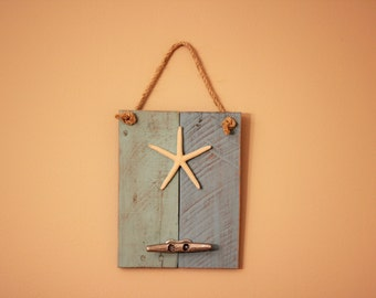Hanging Dock Cleat Rack with Starfish - Boat Cleat Rack