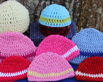 a60f860fd20 Great Donation Idea Bulk Sale NICU Micro preemie hats 1-2 pounds premature  baby hats.Ten hats. Made to order.
