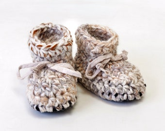 slippers - gifts for her - adult- toddler - child - wool and acrylic yarn - non slip sole - crochet