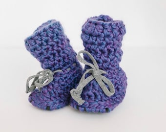 Tall Wool Slippers -  adult, infant and children size - warm wool non slip booties, sheepskin slippers - girly