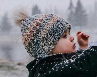 Cozy wool beanies worh faux fur pom pom - touque - winter hat - warm hat - baby - toddler - child - kids - adults