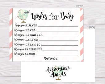 baby wishes template etsy