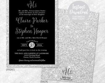 Wedding Invitation Downloadable Templates Invitations Stating No Gifts DIY Invites
