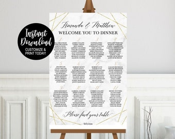 seating chart sign etsy