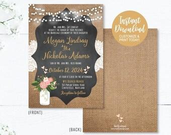 Affordable Wedding Invitations Etsy