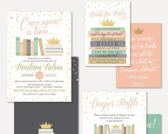 book themed baby shower invitations etsy