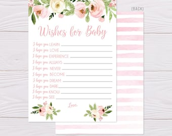 baby shower keepsake well wishes printable well wishes template instant download wishes for baby shower printable hadley designs