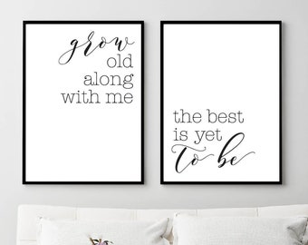 Home Decor Rustic, Bedroom Wall Art, Minimalist Poster, Black and White Prints, Printable Wall Art Quote, Printable Women Gift, Couple Print