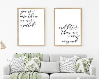 Minimalist Art Download, Home Wall Art Prints, Bedroom Wall Art Quotes, Home Decor Rustic, Digital Print Set, Handwriting Quote, Poster Set