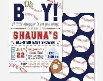 Baseball Baby Shower Invitations Etsy