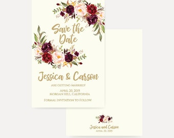 save the date design etsy