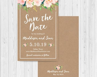 save the date email etsy