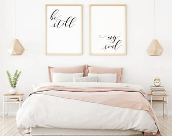 Exceptionnel Be Still My Soul Wall Art, Bedroom Wall Decor Over The Bed, Minimalist  Poster, Bedroom Wall Art Quote, Home Decoration, Set Of 2, Poster Set