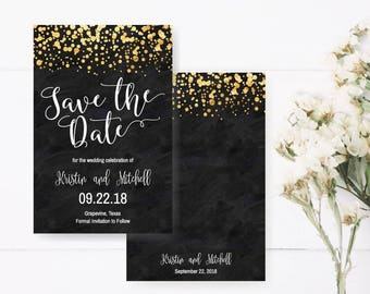 save the date invite etsy