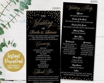 wedding programs etsy