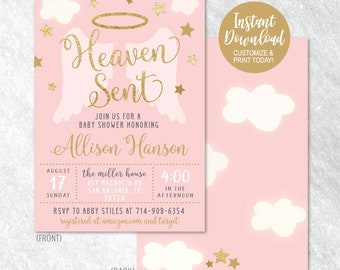 printable baby shower invitation etsy