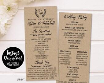 funny wedding programs etsy